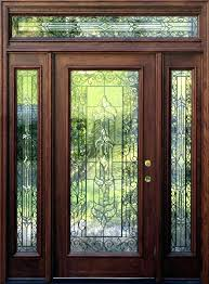 leaded glass entry doors stained exterior door inserts double front with