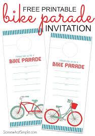 free printable bike parade invitation