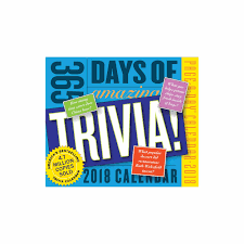 365 amazing trivia facts desk calendar 2018
