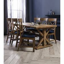 faversham dining table with 6 chairs in dark pine
