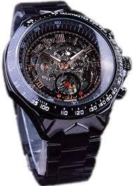 Winner Brand Men Black Skeleton Watches Metal ... - Amazon.com