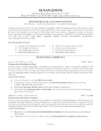 Pharmaceutical Sales Resume Templates Doc