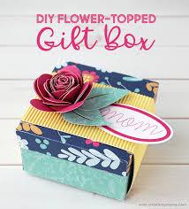 diy flower topped gift box