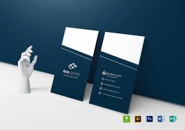 business card template designs elegant real estate business card design template in word psd