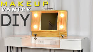 diy makeup vanity table. DIY MAKEUP VANITY DESK | With Storage (Plans Available) Diy Makeup Vanity Table