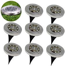 Mcgrady1xm <b>Solar</b> Ground Lights - <b>8 LED</b> Waterproof <b>Garden</b> Path ...