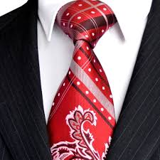 Wholesale Designer Ties Click To Buy C13 Checked Dots Paisley Red Crimson White