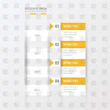 Timeline Design Yellow Color Stock Vector Image