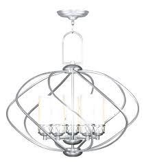 brushed nickel chandelier