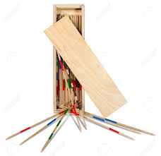 Game With Wooden Sticks Game Of Mikado Or Shanghai With Wooden Sticks And Box Isolated 20