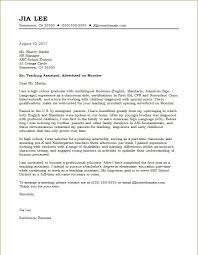 Cover Letter Teaching Assistant Photo Image Special Needs Assistant
