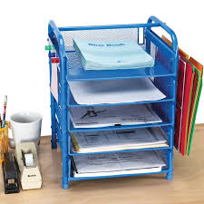 Really Good Desktop Classroom Papers Organizer With Two Wire Works