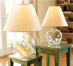 pottery barn glass lamp table base knock off bases clift clear