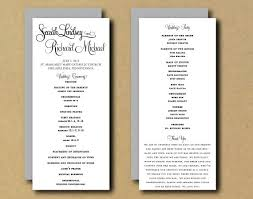 Templates For Wedding Programs Printable Wedding Program Template Whimsical Calligraphy