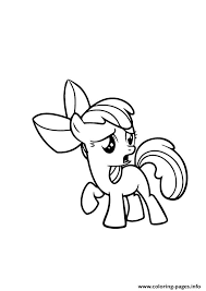 A Apple Bloom My Little Pony Coloring Pages Printable