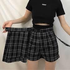 Women <b>High</b> Waist Chic Striped Stitching Skirt Student <b>Elastic</b> Waist ...