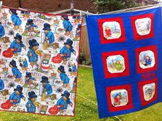 Adorable Paddington Bear on kid sized quilt by BlondeBikerQuilts ... & Commissioned Paddington Bear Quilts for Ben and Austin. Adamdwight.com