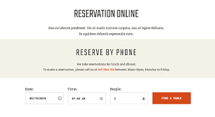 Table Reservation Template Responsive Restaurant Cafe Bar Joomla Template Ja