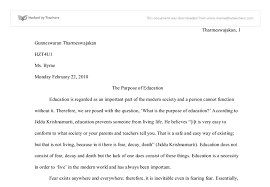 purpose of education essay statement of purpose education view larger