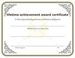 Superlative Certificate Template Of Achievement Office