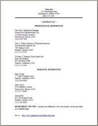 sample resume reference page template httpwwwresumecareerinfo sample reference for resume