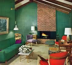 Small Picture Alluring Green Loft Room Design With Ravishing Retro Living Room