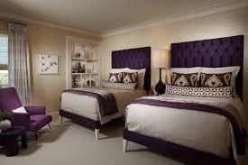 purple modern bedroom designs. Bedroom, Purple Modern Bed Grey Bedding Brown Pillow Apricot Carpet Floor Pattern Flower Blanket White Bedroom Designs