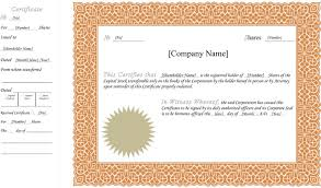 Template For Stock Certificate 25 Stock Certificate Template Free Download