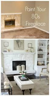 paint your 80s fireplace with spray paint so much better with age