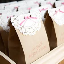 So Sweet Favor Bags Paper doilies and ribbon transform plain kraft paper  bags into oh-so-sweet party favors!