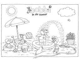 Kleurplaat Bobbi Zomer With Kleurplaat Bobbi In De Dierentuin In
