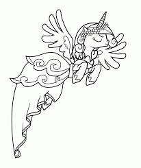 Small Picture My Little Pony Princess Cadence Coloring Page Szczegy
