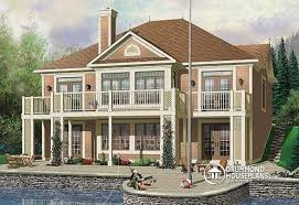 House plan W detail from DrummondHousePlans comRear view   BASE MODEL Great Country Lake cottage       ceiling  open floor