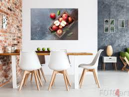 Esszimmer Mit Foto äpfeln Auf Plexiglas