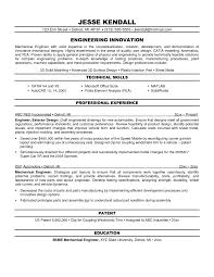 Engineer Resume Mechanical Engineering Sample 2015 Technic Peppapp