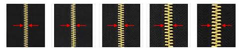 Zipper Size Chart How To Measure The Zipper Gauge Correctly Decorative Zips