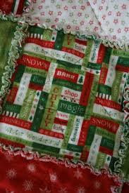 Christmas Flannel Rag Quilt - Hopeful Homemaker & This ... Adamdwight.com