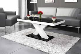 xenon mini coffee table white black