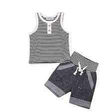 2019 <b>Summer Baby</b> Boy Clothes <b>Set Cotton</b> Vest Sleeveless T Shirt ...