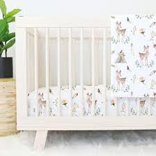 Blakely s Boho Woodland Deer Nursery Bedding