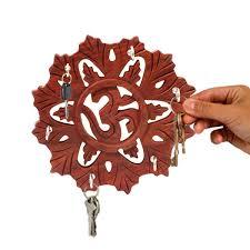 Wall Key Holder Wooden Om Design Round Key Holderkey Holder For Wall Wall
