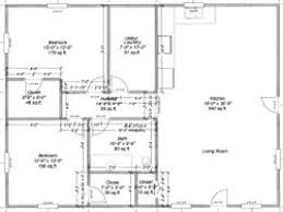 Pole Barn Floor Plans  SDS PlansBarn Plans With Living Quarters Floor Plans