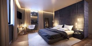 trendy bedroom decorating ideas home design:   padded headboard wall