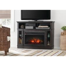 home decorators collection grafton 46 in tv stand infrared electric fireplace in espresso