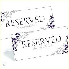 Free Wedding Sign Templates Printable Reserved Table Signs Templates