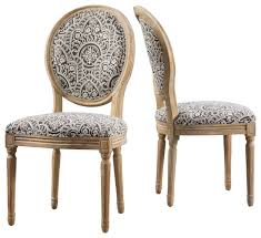 Patterned Dining Chairs Cool Hawthorne Black And White Patterned Fabric Dining Chairs Set Of 48