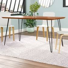 Hairpin dining table Oak Lacluta Hairpin Dining Table Wayfair Hairpin Dining Table Wayfair