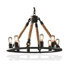 restoration industrial pendant lighting. Industrial Vintage Hemp Rope Chandelier Pendant Lamp By Restoration Hardware -Free Shipping To Worldwide! Lighting T
