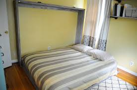 diy wall bed. Rustic Queen Sized Wall Bed Diy