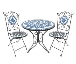 outdoor table and chairs png. mosaic blue star tea for 2 chair \u0026 table set from dunelm mill outdoor and chairs png